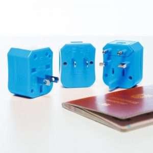 Idea regalo 4 in 1 Adattatore da viaggio – Blu
