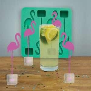 Idea regalo Bastoncini da cocktail Fenicottero  set da 4