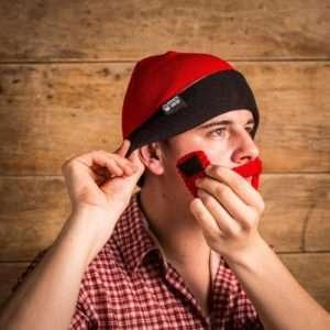 Idea regalo Berretto Con Barba Barbetto – cappello rosso/nero – barba rossa a 24 €