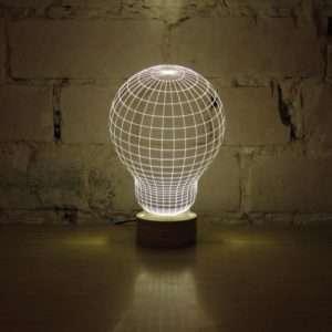 Idea regalo Bulbing – Lampada LED Effetto 3D a 99 €
