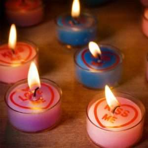 Idea regalo Candeline Amore Tealights