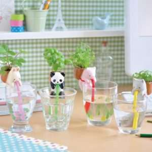 Idea regalo Chuppon  Animaletti porta piante – Coniglio (Fragoline di bosco)