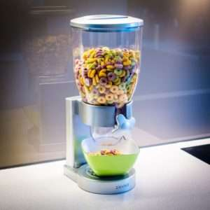 Idea regalo Dispenser  Per Cereali, Muesli & Co – Argento