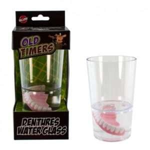 Idea regalo Bicchiere con finta dentiera