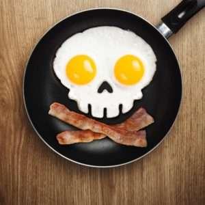 Idea regalo Stampo Teschio per uovo al tegamino