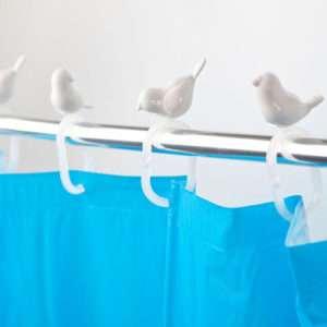Regalo Ganci per tenda doccia – Peeking birds
