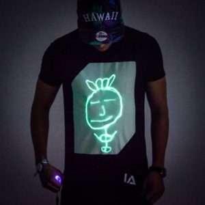 Idea regalo Interactive Glow T-Shirt  – Small
