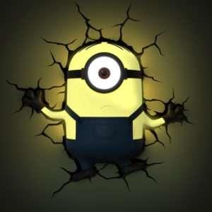 Idea regalo Lampade da muro 3D  Minions – Stuart