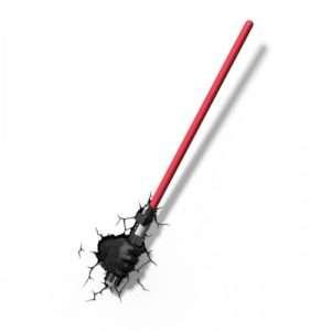 Regalo Lampade da muro 3D Star Wars – Darth Vader mano con spada laser