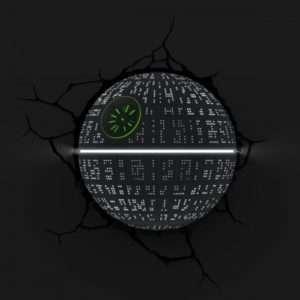 Idea regalo Lampade da muro 3D Star Wars – Morte Nera a 49 €