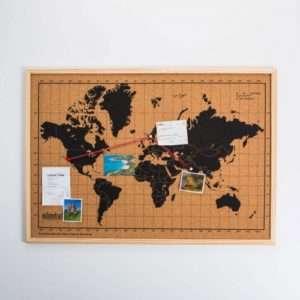Idea regalo Mappa del Mondo in Sughero a 24 €