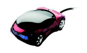 Idea regalo Mouse ottico – Macchinina con luci blu