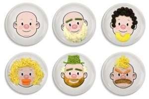 Regalo Piatto Food Face