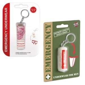 Idea regalo Portachiavi con mutande d`emergenza integrate
