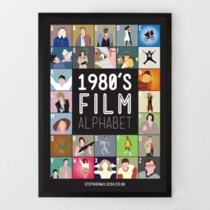 Idea regalo Poster Film Anni 80 dalla A alla Z Di Steven Wildish a 24 €