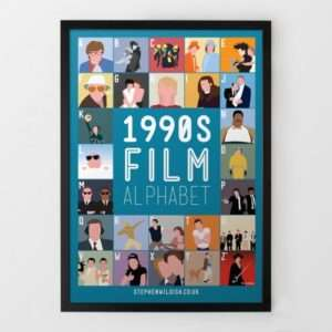 Idea regalo Poster Film Anni 90 dalla A alla Z Di Steven Wildish