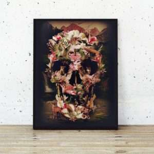Idea regalo Poster Jungle Skull di Ali Gulec a 24 €