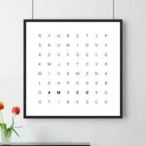 Idea regalo Poster Mix Di Parole a 24 €