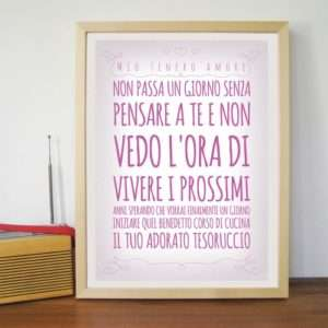 Idea regalo Poster Romantico