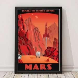 Idea regalo Poster Rossi Canyons Marziani Di Steve Thomas a 24 €