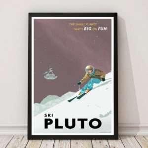 Idea regalo Poster Ski Pluto Di Steve Thomas