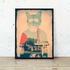 Idea regalo Poster The Cat di Ali Gulec a 24 €