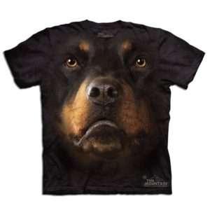 Idea regalo Maglietta Big Face 3D – Rottweiler