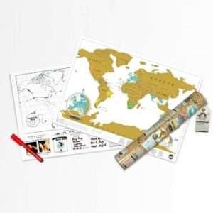 Regalo Scratch Map – Carta geografica portatile da grattare