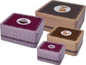 Regalo Set scatole in latta – Animali della foresta