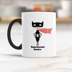 Idea regalo Supereroina (Rosso) Tazza a 5 €