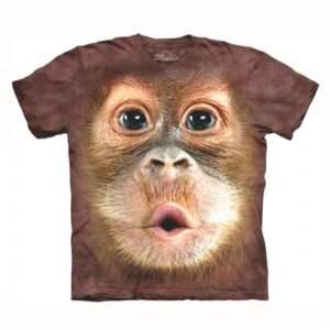 Idea regalo T-shirt Baby Orangotango Big Face- Large a 29 €