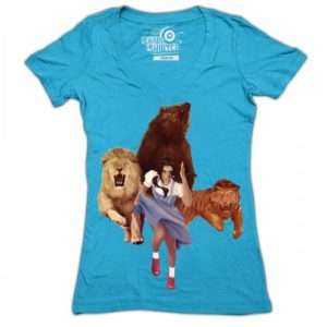 Idea regalo T-Shirt Donna Leone  Tigre  Orso – Medium a 24 €