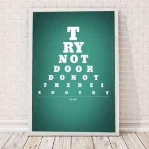 Idea regalo Tabella oculistica  poster a 24 €