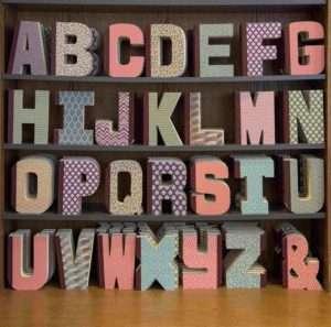 Regalo Taccuino a forma di lettera