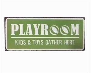Regalo Targa in metallo – Playroom