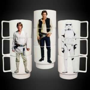 Idea regalo Tazze Impilabili Star Wars – set da 3