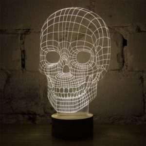 Idea regalo Teschio Bulbing – lampada LED effetto 3D a 99 €