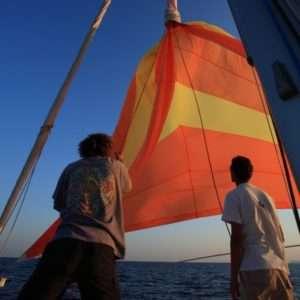 Idea regalo Lezione di vela con barca di 13 metri  Finale Ligure