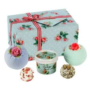 Idea regalo Vintage Rose – Set da bagno