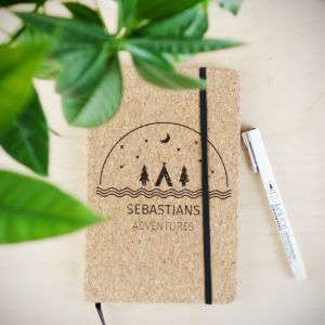 Regalo Quaderno Personalizzabile in Sughero  Adventures