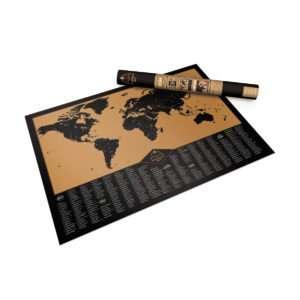 Idea regalo Mappa del mondo da grattare Adventure Scratch