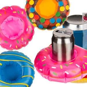 Idea regalo Gonfiabile a forma di ciambella per contenere bevande in piscina