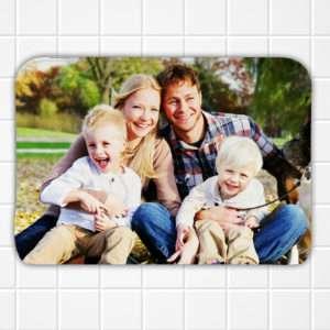 Idea regalo Tappetino bagno personalizzato con foto