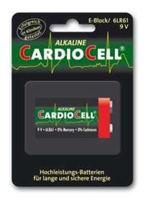 Idea regalo 1 Pila Cardiocell 9 V Formato 6LR61