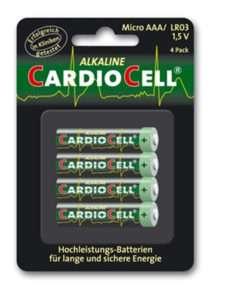 Idea regalo Set da 4 Batterie AAA CardioCell