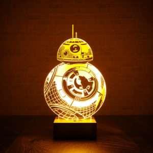Regalo Lampada BB-8 di Star Wars BB con effetto 3D