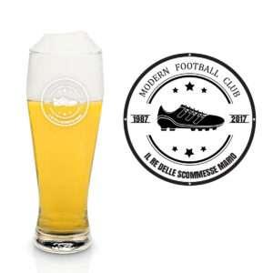 Idea regalo Bicchiere da birra personalizzabile Scarpa da calcio