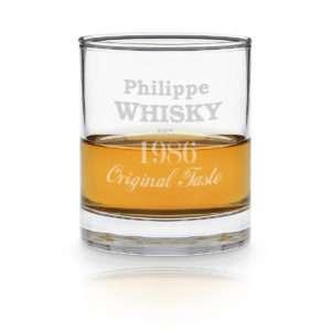 Idea regalo Bicchiere da Whisky personalizzato con incisione