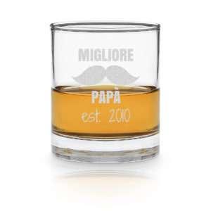 Idea regalo Bicchiere da Whisky personalizzato Miglior papà