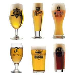 Idea regalo Set di 6 bicchieri Birre del Mondo